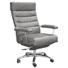 leather office chair amazon. adele executive recliner office chair grey leather by lafer chairs amazon l