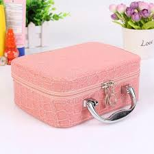 small mini alligator cosmetic bags beauty case makeup bag lockable jewelry box travel toiletry organizer suitcase cosmetics beauty s