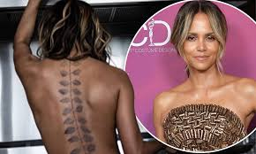 Halle Berry Shows Off Huge New Tattoo Down Her Spine With Topless