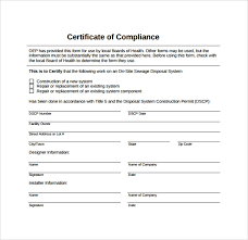 Certificate Of Compliance Template Word Sample Certificate Of Compliance 25 Documents In Pdf Psd
