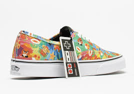 vans x nintendo. the nintendo x vans collection comes with super cool packaging