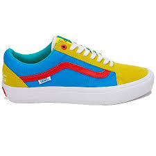 vans golf shoes. vans golf wang old skool pro shoes, yellow/ blue/ red shoes