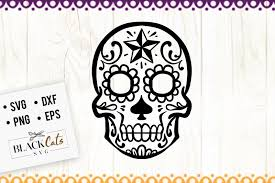 Inside you'll find lots of free files for you because i truly love to share — every week i'll be adding more to the library, so check. Sugar Skull 3 Svg This Craft Design Comes In 4 Formats Svg Png Dxf And Eps This Product Is Compatible Christmas Wreaths Sugar Skull Svg