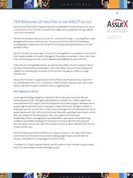 White Paper Fda Food Quality And Haccp Hazard Analysis And