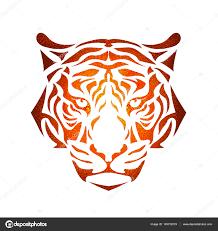 стилизованные тигр морда векторное изображение Yulianas 145012019