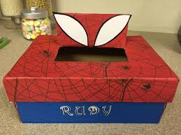 Valentine Shoe Box Decorating Ideas Spiderman Valentine shoe box My DIY Pinterest SpiderMan 2