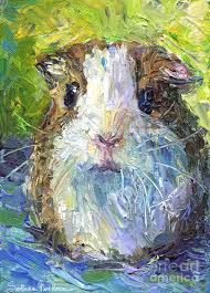whimsical guinea pig painting print painting by svetlana novikova whimsical guinea pig painting print fine