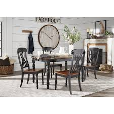 furniture kitchen dining room sets mackenzie country antique extending scroll back dining set by inspire q clic
