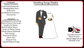Wedding Song Playlist Wedding Song Playlist Dj1luv Entertainment