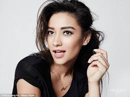 long ago pretty little liars star shay mitc pictured in a new shoot for