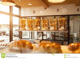 Brest France 28 May 2018 Modern Bakery With Different Kinds Of