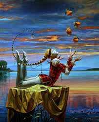 michael cheval comparative ogy ii x oil on canvas x limited edition of 100