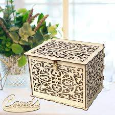 wedding card box with lock diy money wooden gift boxes for birthday party com