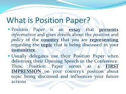 presentation on mun history goals and rules of procedure ppt what is position paper