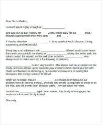Babysitter Reference Letter 6 Sample Nanny Reference Letters Pdf Word