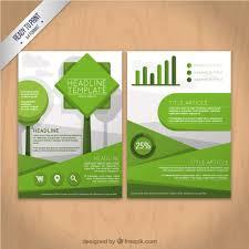 Green Brochure Template Geometric Green Flyer Template Vector Free Download