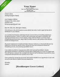 bookkeeper cover letter finance cover letter samples