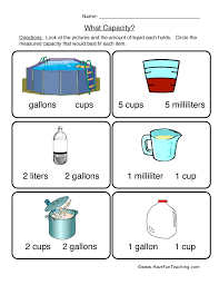 Measuring Capacity Worksheets Worksheets for all | Download and ...