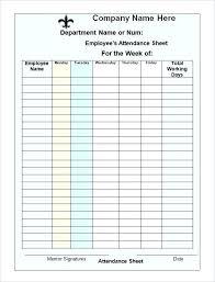 Attendance Register Template Microsoft Word Free Sheet Spreadsheet
