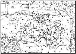 Small Picture Family picnic coloring page family eating a picnic in the woods