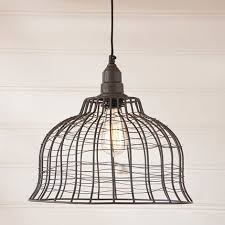 punched tin lighting fixtures. lighting pendant industrial cage in smokey black punched tin fixtures