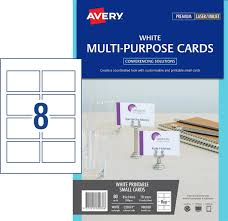 Avery Event Tickets Avery 980038 C32074 Event Labels Multipurpose Double Sided Card Card 85x54mm Pack 10 8up