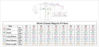 Size Guide Oxford Company Eshop