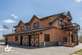this barn home in daggett michigan was built with post and beam construction