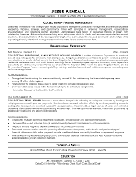 Medical Collector Sample Resume Collection Of Solutions Credit Collections Manager Resume Cute 15