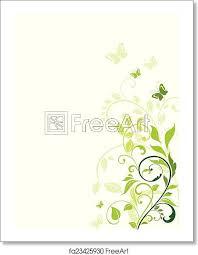 Free Art Print Of Floral Green Border