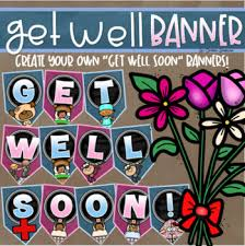 Get Well Soon Poster Get Well Soon Welcome Back Banner Pennant Sign Poster