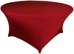 5 ft round spandex table cover apple red 64308 1pc pk