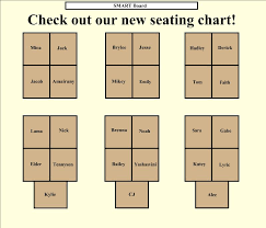 Making A Seating Chart For The Classroom Class Room Seating Chart Bismi Margarethaydon Com