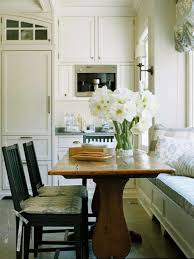 Small Kitchen With Dining Table Appealing Small Kitchen With Wooden Dining Table Balck Hiars And