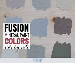 Fusion Mineral Paint Color Chart A Side By Side Comparison Of Fusion Mineral Paint Colors