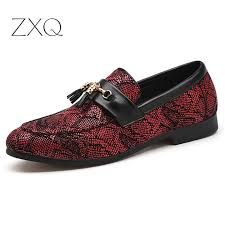 <b>Plus Size 38 48</b> New Imitate Snake Leather Men Slip On Shoes ...