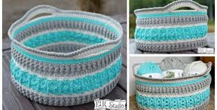 Free Crochet Basket Patterns New Sea Glass Crocheted Basket [FREE Crochet Pattern Video Tutorial]