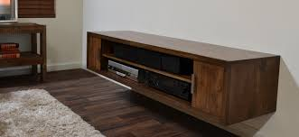 Vintage Brown Wall Mounted Media Console From Reclaimed Wood Plus Wide Open  Shelves And Hutch At White Wall Theme