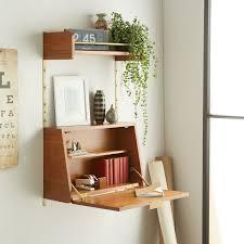 Fold down wall desk Drop Down Folddown Desk From West Elm More Pinterest 20 Spacesaving Folddown Desks Wooden Workshop Pinterest