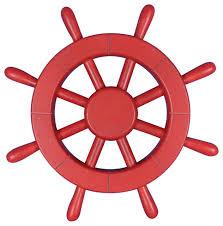red ship wheel 12 nautical decoration nautical wall haning