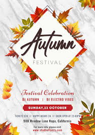 Fall Flyer Autumn Festival 3 Free Psd Flyer Template Free Psd Flyer