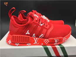 louis vuitton x adidas. authentic louis vuitton x adidas nmd r1 red 2