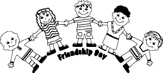 Small Picture Friendship Day Five Friends Coloring Page Wecoloringpage