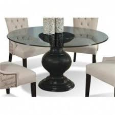 table bases for glass tops. serena round glass dining table with pedestal base by cmi bases for tops
