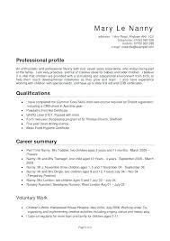 Resume Babysitter Babysitting Resume Samples Nanny Resume Templates