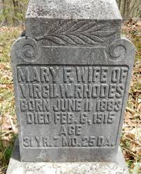 Mary Florence Rhodes (Tolley) (1883 - 1915) - Genealogy
