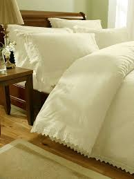 cream embroidered kingsize duvet cover bed sets luxury percale bed linen co uk kitchen home