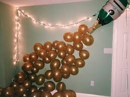 Champagne Bottle Balloon Decoration New Year's Eve balloon decoration champagne bottle Holiday Deco 2