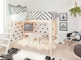 How fun is this whimsical play space under the @oeufnyc loft bed?! Childrens  Bedrooms ...
