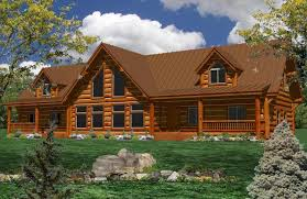 the buffalo run log home floor plans 5714sqft